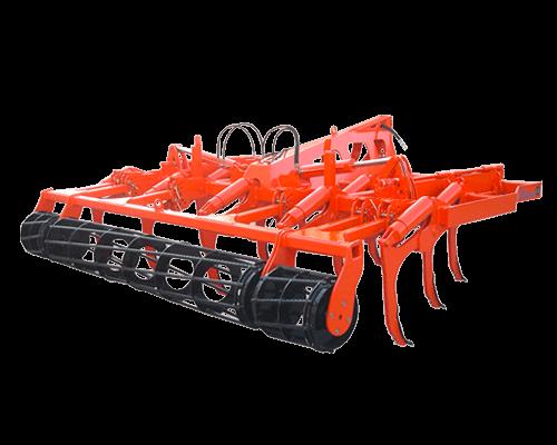 3-reihige bodenbearbeitungsmaschine mit kippmeißelpflug